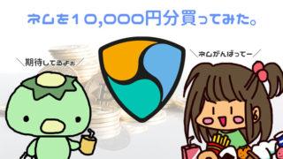 【仮想通貨】はじめての投資にネム(NEM/XEM)を10,000円分買いました。ネムがんばって~!!